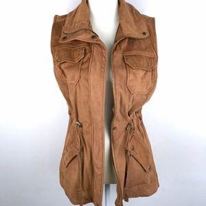 American Rag    Suede Fabric Utility Vest